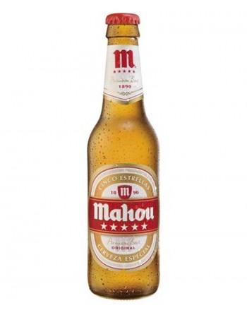 Mahou 5 Estrellas Beer Bottle (24 x 250ml)