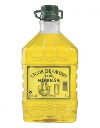 Licor de Orujo con Hierbas La Cepa De Cristal 3 Lt.