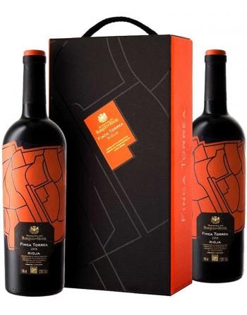 Pack 2 botellas Finca Torrea en caja de madera