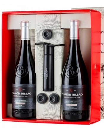 Pack 2 botellas Ramón Bilbao Edición Limitada + Bomba