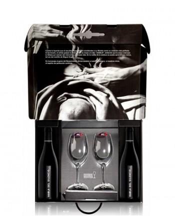 2 bottles Habla Del Silencio in a luxury box + 2 Riedel wine glasses