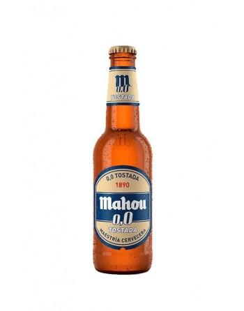 Cerveza Mahou 0,0 tostada Pack 24 Botellines 33cl.