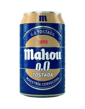 Cerveza Mahou 0,0 tostada Pack 24 latas 33cl.