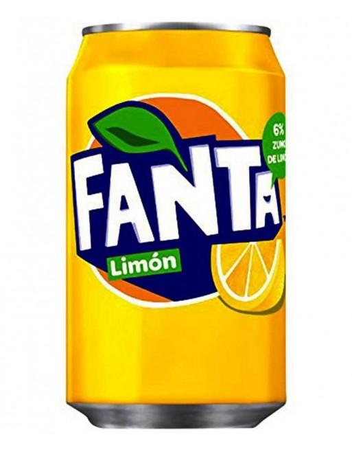 Fanta Limón Lata 33cl - Pack 24 unidades