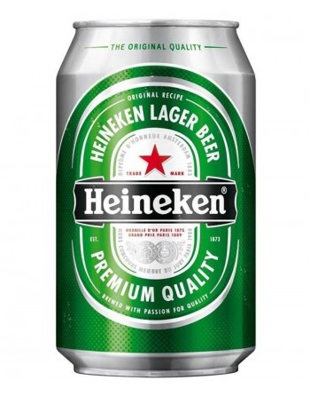 Heineken Premium Lager Beer Tin (24 x 330ml)