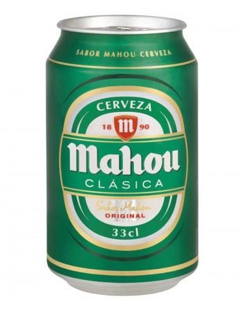 Cerveza Mahou Clásica. Pack 24 latas 33 cl.