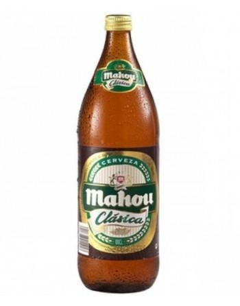 Mahou Clásica Beer bottle...