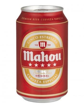 Cerveza Mahou 5 Estrellas. Pack 24 latas de 33 cl.