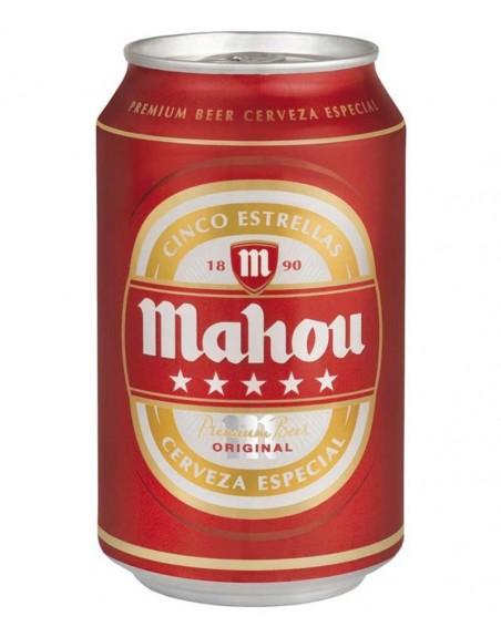 Cerveza Mahou 5 Estrellas Pack 24 Unidades 33cl.