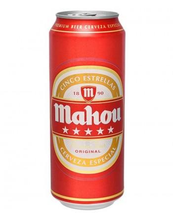 Cerveza Mahou 5 Estrellas Pack 24 Unidades 50cl.