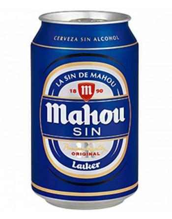 Cerveza Mahou sin alcohol. Pack de 24 latas de 33 cl.