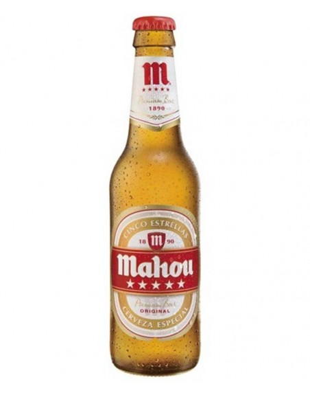 Cerveza Mahou 5 Estrellas Pack 24 Botellines