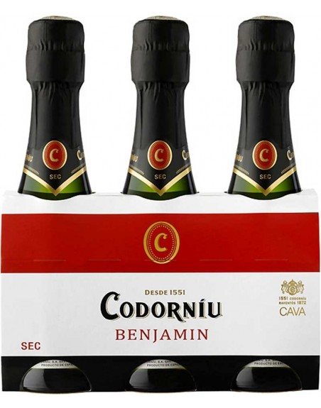 Codorníu Pack 3 botellas 20cl.
