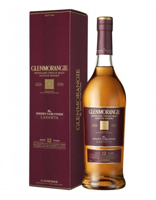 Whisky Glenmorangie Lasanta con estuche 70cl.