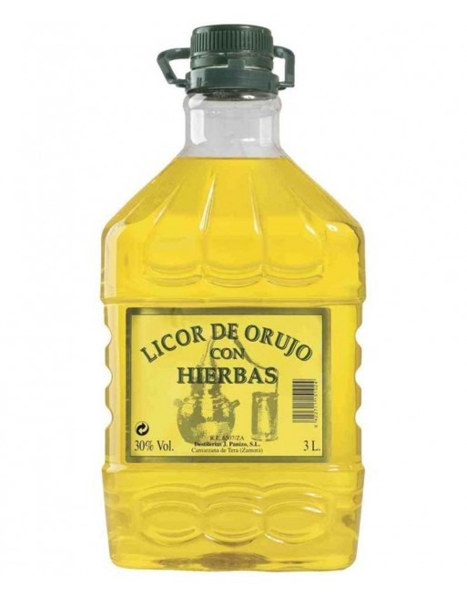 Orujo de Hierbas La Cepa de Cristal 3L.