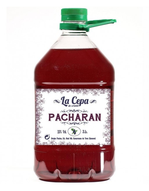 Pacharán La Cepa de Cristal 3 Lt.