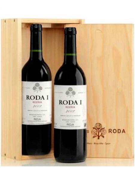 Pack 2 botellas Roda I Reserva en caja de madera