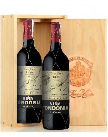 Pack 2 botellas Viña Tondonia Reserva en caja de madera
