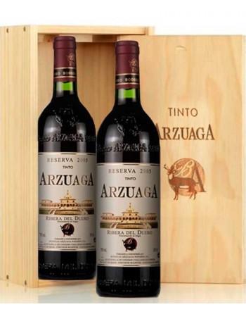 Pack 2 botellas Arzuaga Reserva en caja de madera