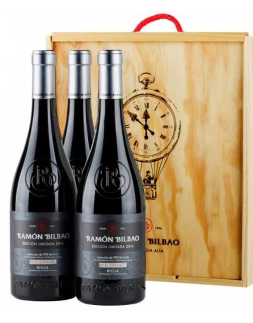 Pack 3 botellas Ramón Bilbao Edición Limitada en caja de madera