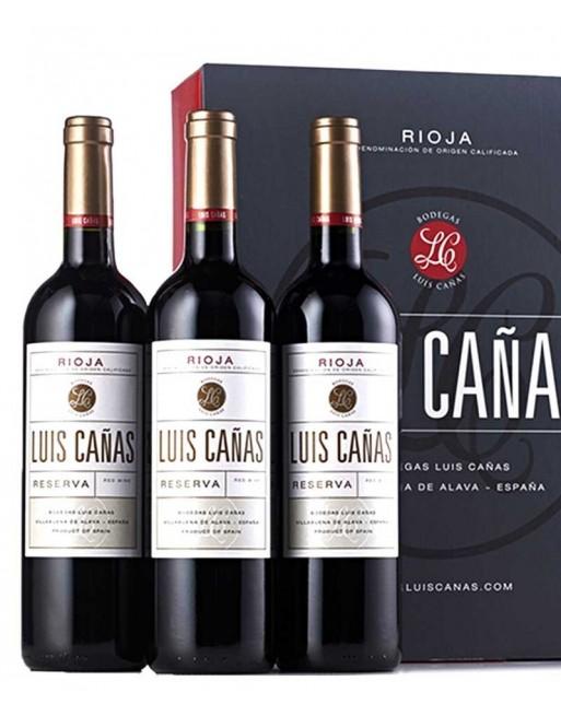 Pack 3 botellas Luis Cañas Reserva
