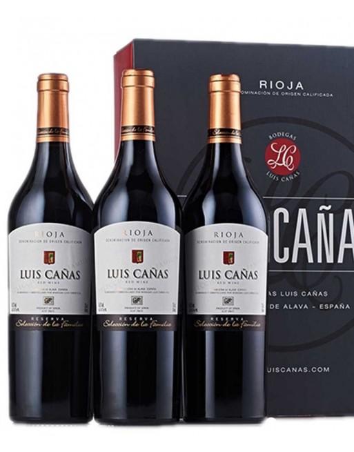 Pack 3 botellas Luis Cañas Reserva de la Familia