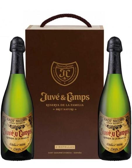Pack 2 botellas Juvé y Camps Reserva de la Familia en caja de madera