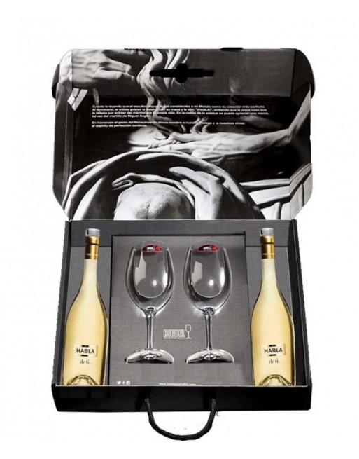 Pack 2 botellas Habla de Ti... en estuche + 2 Copas Riedel