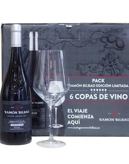 6 botellas Ramón Bilbao Viñedos de Altura + 6 copas de regalo