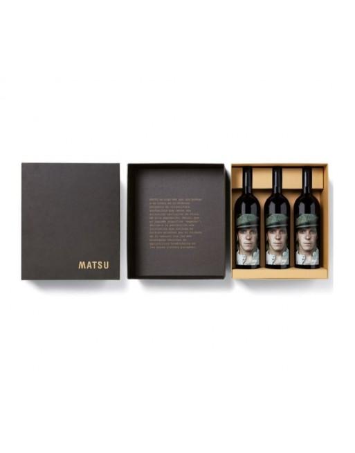 Pack 3 botellas Matsu El Pícaro en caja de Cartón
