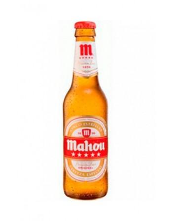 Cerveza Mahou 5 Estrellas Pack 24 Botellines 33cl.